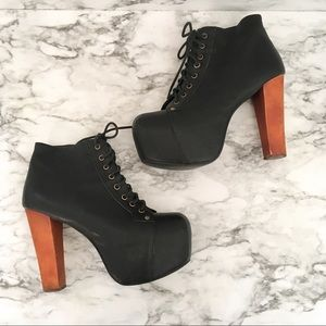 Jeffrey Campbell Lita platform lace-up wooden heel